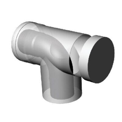 Ricom Gas  PPS/Alu 60/100-as könyökidom vizsgálónyílásal