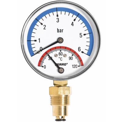 """Ferro Hőmérséklet és nyomásmérő óra 1/2"""""""