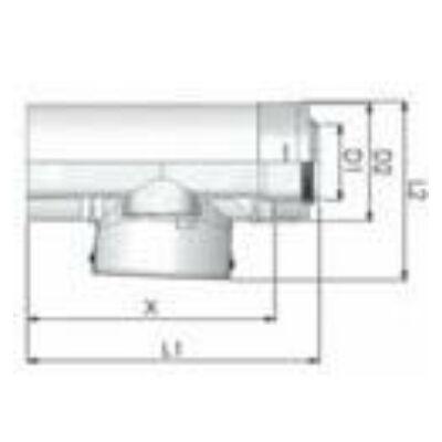 Tricox PPs/Alu ellenőrző egyenes idom 80/125 mm