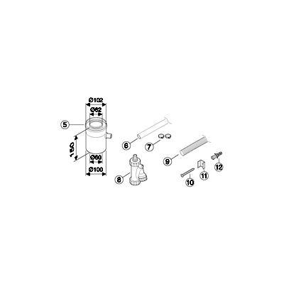 Bosch AZ 401 Vízszintes kondenzátum leeresztő