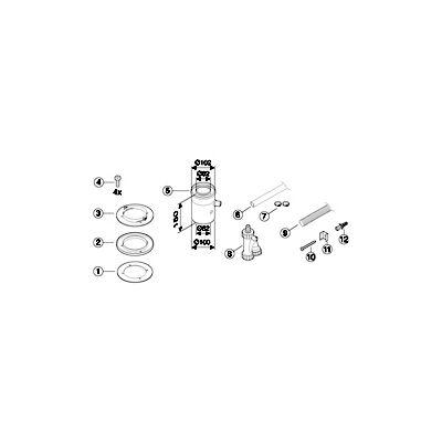 Bosch Az 402 Függőleges csatlakozóidom  kondenzátumleeresztővel