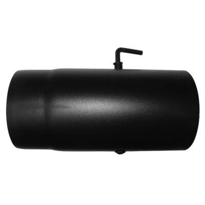 Dunaterm Fekete füstcső 120/250 mm Pillangós