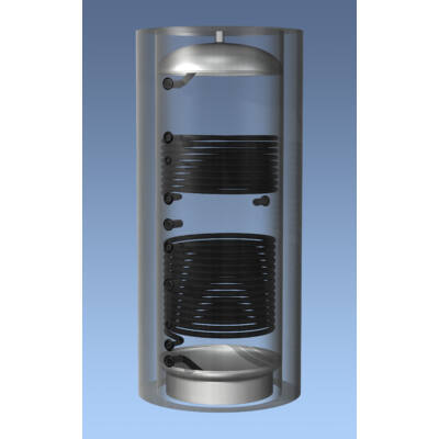 Hajdu Aquastic AQ PT 1000 C2 Puffertároló 2 hőcserélővel
