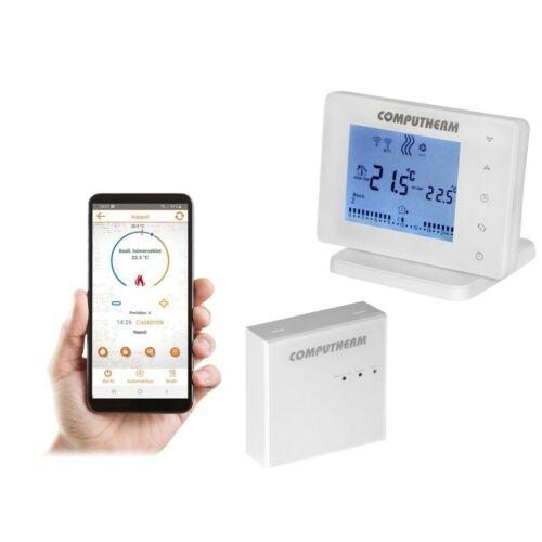 Computherm E400RF Wi-Fi okos termosztát vezeték nélküli, érintőgombos vezérlővel