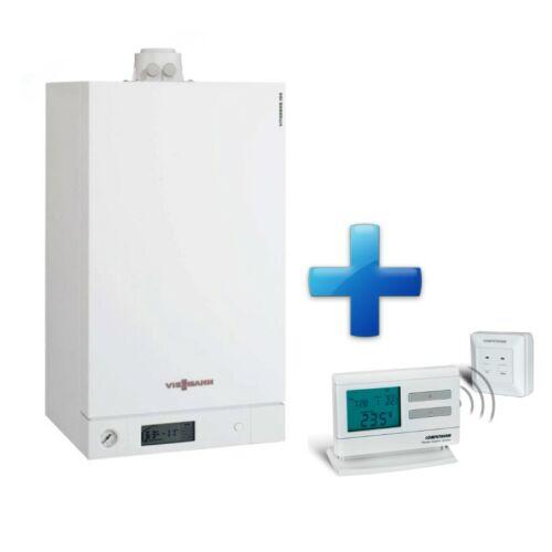 Viessmann Vitodens 100 W Touch 26 kW KOMBI kondenzációs fali gázkazán új, ERP + AJÁNDÉK Q7RF termosztát
