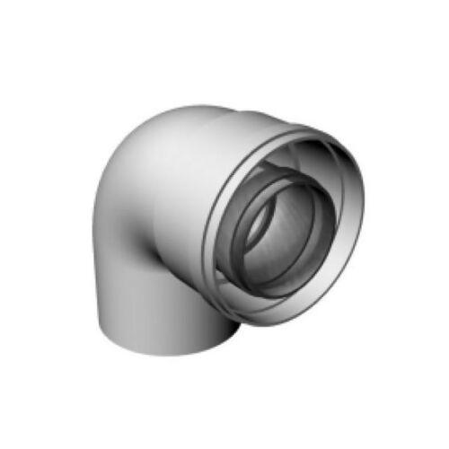 Ricom gas PPS/Alu Ø 60/100 mm-es, 87°-os ív