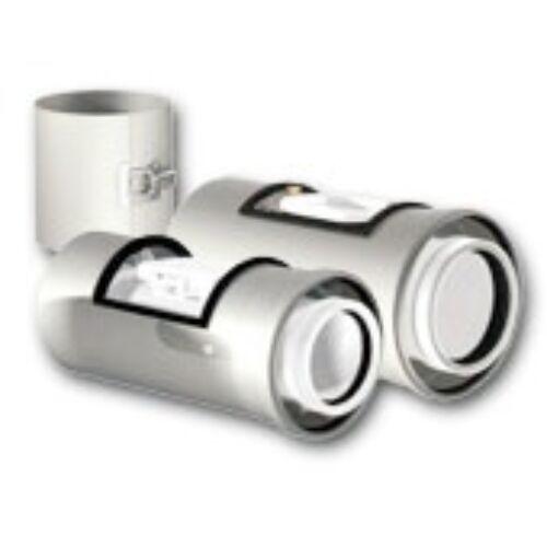 Ricom Gas PPS/Alu 80/125-ös Egyenes idom vizsgálónyílással