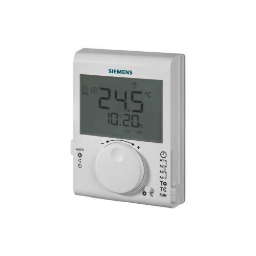 Siemens RDJ100 Szobatermosztát 24-órás időprogrammal, LCD-kijelzővel, elemes kivitel