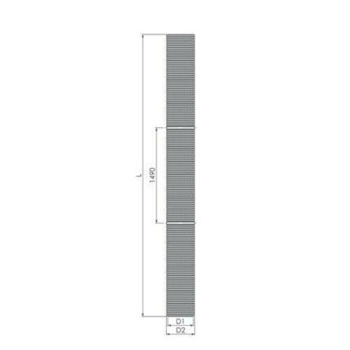 Tricox PP flexibilis cső, Ø60 mm, 25 fm-es tekercsben, kartondobozban