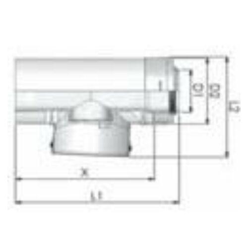 Tricox PPs/Alu ellenőrző egyenes idom 60/100mm