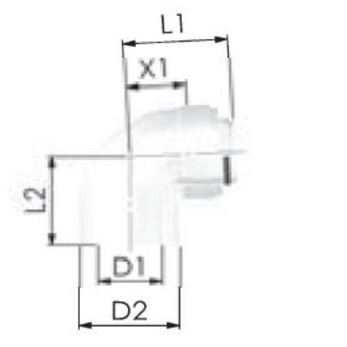 Viessmann PPs/Alu ellenőrző könyök 60/100mm 87°