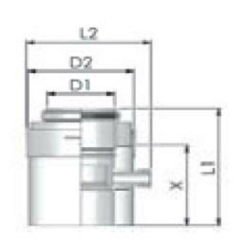 Tricox PPs/Alu kondenzátum leválasztó 80/125 mm