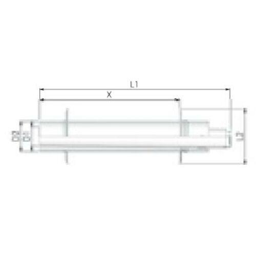Tricox PPs/Alu parapet 110/160 mm 2db takaró lemezzel