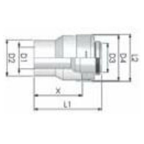 Tricox PPs/Alu bővítő 80/125mm-110/160mm
