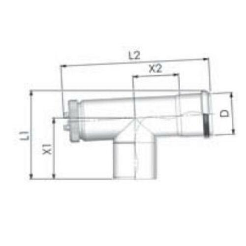Tricox PPs ellenőrző T-idom 80mm