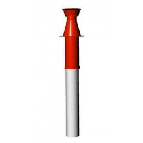 Ariston Tetőátvezető idom, alu/pp, Ø60/100 mm, piros