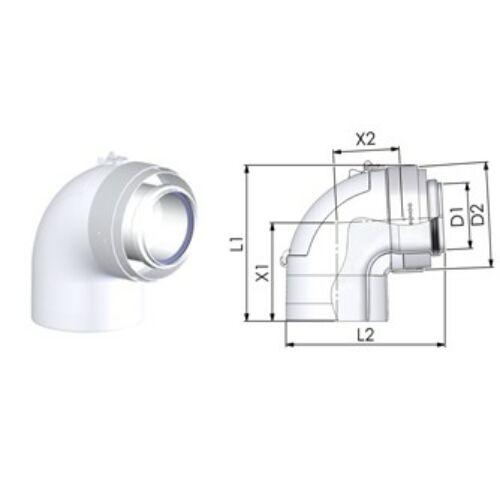 Bosch AZ 477 90°-os ív ellenőrző nyílással
