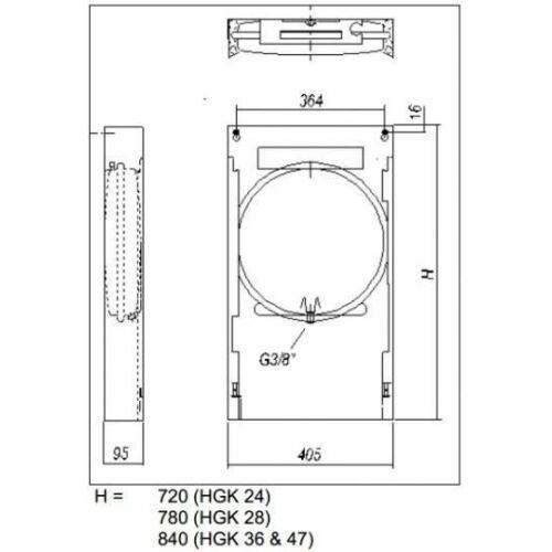 Hajdu HGK-24 felszerelő keret gázkazánhoz