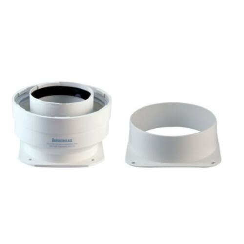 Immergas Ø 125 mm-es, fali, csatlakozó idom C9X rendszerhez, Ø 80/125 mm-es, karimás, induló idommal